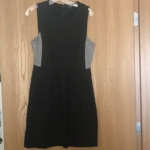 Madewell dress with striped side panels